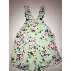 Vintage Gosh gosh floral shorts overalls 12 months